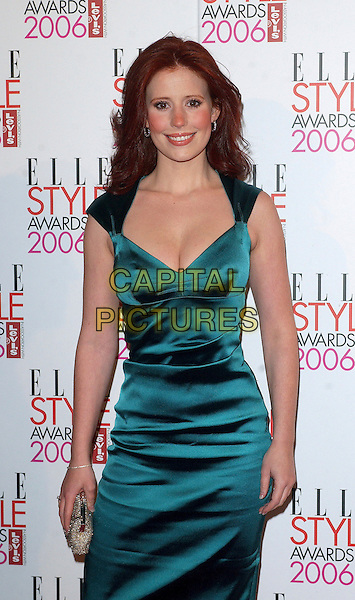 AMY NUTTALL.The Elle Style Awards 2006, Atlantis Gallery, Old Truman Brewery, Brick Lane, London, UK..February 20th, 2006 .Ref: BEL.half length blue dress green.www.capitalpictures.com.sales@capitalpictures.com.© Capital Pictures.
