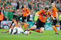 :: DUNDEE UTD'S JON DALY IS BROUGHT DOWN ::