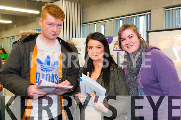 KDYS LCA Students pictured at the IT Tralee Open day on Friday were Nicky Marshall KDYS LCA, Amy Diggen KDYS LCA, Megan O'Reilly KDYS LCA