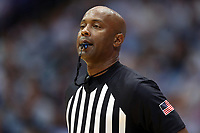 CHAPEL HILL, NC - JANUARY 4: Official Sean Hull during a game between Georgia Tech and North Carolina at Dean E. Smith Center on January 4, 2020 in Chapel Hill, North Carolina.
