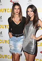 "13 April 2017 - Los Angeles, California - Madison Reed, Victoria Justice. Premiere Of Swen Group's ""The Outcasts"" held at the Landmark Regent."