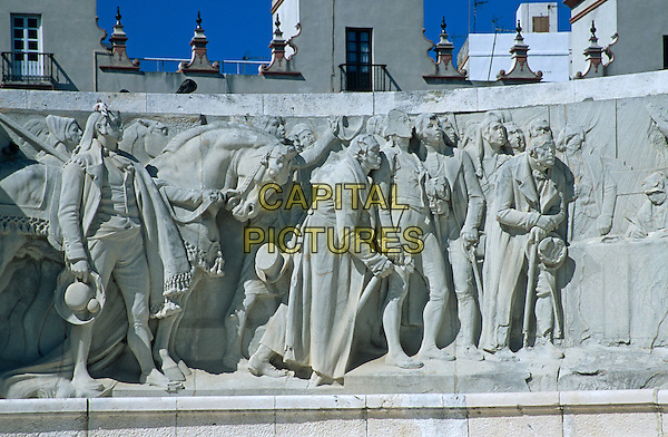 Section of Monument dedicated to Cortes of Cadiz of 1812, Cadiz Parliament, Plaza de Espana, Cadiz, Spain