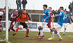 Fraser Aird nicks the ball into the net to seal a late winner for Rangers at Gayfield