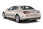 Car pictures of rear three quarter view of a 2014 Maserati Quattroporte SQ4 4 Door Sedan Angular Rear