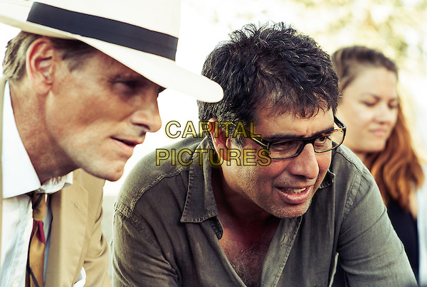 Viggo Mortensen and director Hossein Amini <br /> on the set of The Two Faces of January (2014) <br /> *Filmstill - Editorial Use Only*<br /> CAP/FB<br /> Image supplied by Capital Pictures