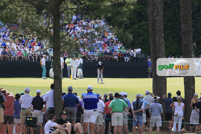 Tiger Woods (USA) during the 1st round at the The Masters , Augusta National, Augusta, Georgia, USA. 11/04/2019.<br /> Picture Fran Caffrey / Golffile.ie<br /> <br /> All photo usage must carry mandatory copyright credit (© Golffile | Fran Caffrey)
