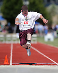 Alfonso Ramero, of Elko, competes in the long jump event the Special Olympics Nevada 2013 Summer Games in Reno, Nev., on Saturday, June 1, 2013. <br /> Photo by Cathleen Allison
