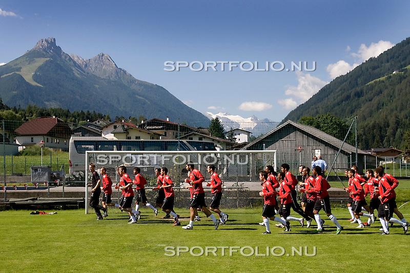 Oostenrijk, Fulpmes, 24 juli 2008,.vriendschappelijk/Trainingskamp.Fulpmes-Feyenoord .Feyenoord op trainingskamp in Oostenrijk