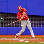 26 March 2018: St. Louis Cardinals infielder Alex Mejia in action during an exhibition game against the Toronto Blue Jays at Olympic Stadium in Montreal, Quebec, Canada. The Cardinals defeated the Blue Jays 5-3 in the first of two MLB pre-season games in the former home of the Montreal Expos. Mandatory Credit: Ed Wolfstein Photo *** RAW (NEF) Image File Available ***