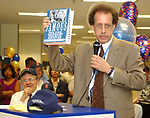 Howie Schneider speaking at the Retirement Celebration for Tony Marro held at Melville Office of Newsday on Tuesday, August 12, 2003. (Photo / Jim Peppler).
