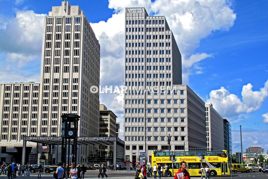 Edificios na Potsdamer Platz em Berlin. Alemanha. 2011. Foto de Juca Martins.
