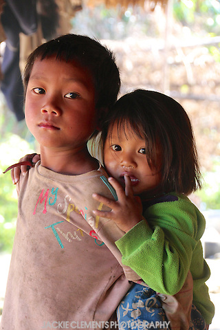 Unusually, in Nagaland, boys and men carry young children strapped to their backs.