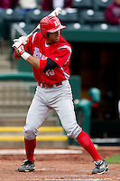 Jason Leblebijian (13) of the Bradley Braves at bat during a game against the Missouri State Bears on May 13, 2011 at Hammons Field in Springfield, Missouri.  Photo By David Welker/Four Seam Images