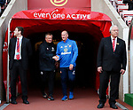 Chris Wilder manager of Sheffield Utd shakes hands with Simon Grayson manager of Sunderland during the Championship match at the Stadium of Light, Sunderland. Picture date 9th September 2017. Picture credit should read: Simon Bellis/Sportimage