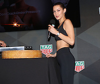 www.acepixs.com<br /> <br /> February 13 2017, New York City<br /> <br /> Bella Hadid at 'A Fresh New Face For TAG Heuer' at Equinox Bond Street on February 13, 2017 in New York City.<br /> <br /> By Line: Nancy Rivera/ACE Pictures<br /> <br /> <br /> ACE Pictures Inc<br /> Tel: 6467670430<br /> Email: info@acepixs.com<br /> www.acepixs.com