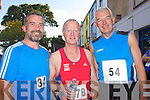 Pictured at the Enable Ireland 5k run at the Brandon on Saturday, from left: Peter Nolan, Teddy Reynolds, John Murphy from Tralee.
