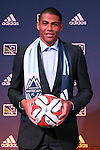 16 January 2014: Christian Dean was selected by the Vancouver Whitecaps FC with the third overall pick. The 2014 Major League Soccer SuperDraft was held at the NSCAA Annual Convention in the Pennsylvania Convention Center in Philadelphia, Pennsylvania.