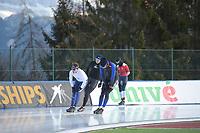 SPEED SKATING: COLLALBO: Arena Ritten, 10-01-2019, ISU European Speed Skating Championships, Marcel Bosker (NED), Jos de Vos (NED), ©photo Martin de Jong