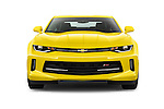 Car photography straight front view of a 2016 Chevrolet CAMARO 2LT 2 Door coupe Front View