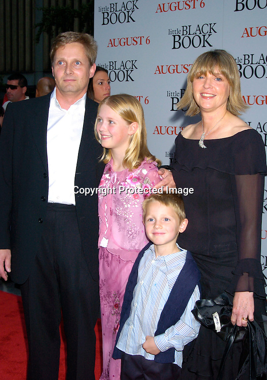 "director Nick Hurran and family ..at The Premiere of "" Little Black Book"" on July 21, 2004 ..at The Ziegfeld Theatre. ..Photo by Robin Platzer, Twin Images"