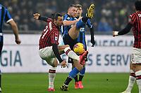 Zlatan Ibrahimovic of AC Milan , Milan Skriniar of FC Internazionale <br /> Milano 09/02/2020 Stadio San Siro <br /> Football Serie A 2019/2020 <br /> FC Internazionale - AC Milan <br /> Photo Andrea Staccioli / Insidefoto