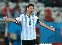 Lionel Messi of Argentina gestures