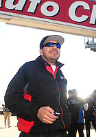 Feb. 27, 2011; Pomona, CA, USA; NHRA funny car driver Cruz Pedregon during the Winternationals at Auto Club Raceway at Pomona. Mandatory Credit: Mark J. Rebilas-.
