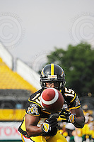 June 26, 2008; Hamilton, ON, CAN; Hamilton Tiger-Cats wide receiver Jason French (15). CFL football - Montreal Alouettes defeated the Hamilton Tiger-Cats 33-10 at Ivor Wynne Stadium. Mandatory Credit: Ron Scheffler-www.ronscheffler.com. Copyright (c) Ron Scheffler