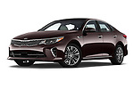 Stock pictures of low aggressive front three quarter view of a 2017 KIA Optima SX Limited AT 4 Door Sedan