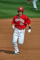 Auburn Doubledays first baseman David Kerian (21) running the bases during a game against the Batavia Muckdogs on September 7, 2015 at Falcon Park in Auburn, New York.  Auburn defeated Batavia 11-10 in ten innings.  (Mike Janes/Four Seam Images)