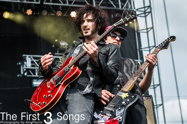 Reignwolf (Jordan Cook) performs during the 2014 Rock On The Range festival at Columbus Crew Stadium in Columbus, Ohio.