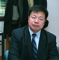 Liang Xeujun, Chief Engineer / Oenologist at the Beijing Dragon Seal Wines Cp Ltd winery Beijing, China, Asia