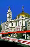 Igreja Achiropita na rua 13 de Maio, Bela Vista. São Paulo. 1997. Foto de Juca Martins.