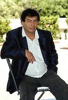 """MOHSEN MELLITI.Photcall for the film """"Io, l'altro"""", Campidoglio, Rome, Italy..May 10th, 2007.half length sitting blue jacket  .CAP/CAV.©Luca Cavallari/Capital Pictures"""