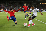 Germany's Serge Gnabry tusses with Spain's Hector Bellerin during the UEFA Under 21 Final at the Stadion Cracovia in Krakow. Picture date 30th June 2017. Picture credit should read: David Klein/Sportimage