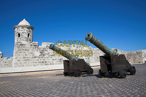 Cannon at Castillo de San Salvador de la Punta, Havana, La Habana Vieja, Cuba