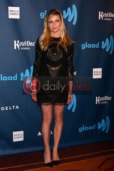 Kirsten Dunst<br /> at the 24th Annual GLAAD Media Awards, JW Marriott, Los Angeles, CA 04-20-13<br /> David Edwards/DailyCeleb.Com 818-249-4998