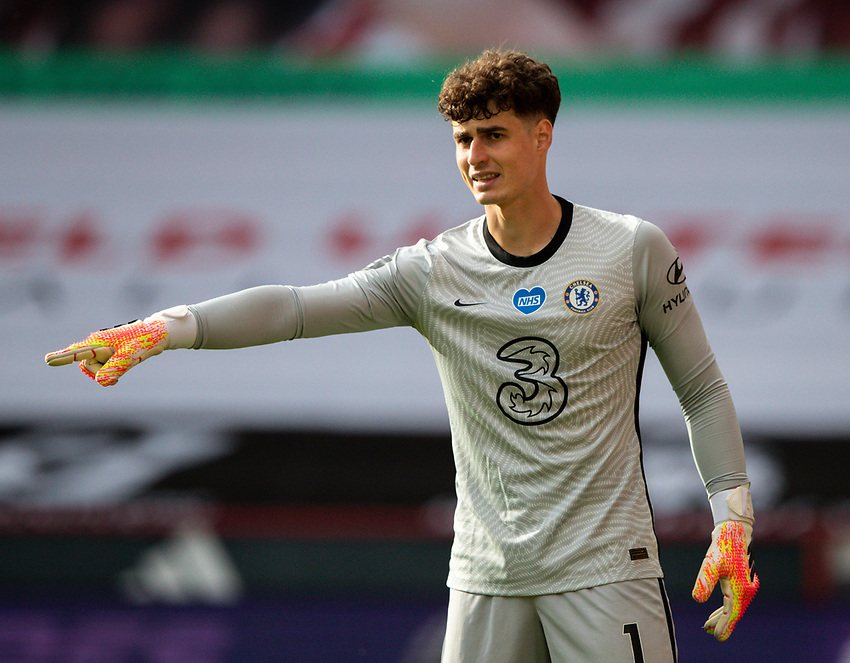 Chelsea's Kepa Arrizabalaga<br /> <br /> Photographer Alex Dodd/CameraSport<br /> <br /> The Premier League - Sheffield United v Chelsea - Saturday 11th July 2020 - Bramall Lane - Sheffield<br /> <br /> World Copyright © 2020 CameraSport. All rights reserved. 43 Linden Ave. Countesthorpe. Leicester. England. LE8 5PG - Tel: +44 (0) 116 277 4147 - admin@camerasport.com - www.camerasport.com