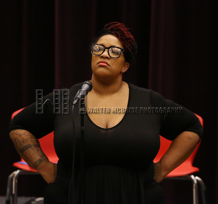 Frenchie Davis attend 'The View Upstairs' sneak preview and panel discussion at The LGBT Community Center on February 1, 2017 in New York City.
