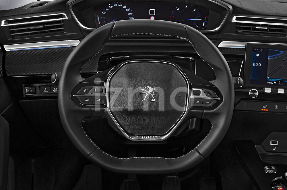 Car pictures of steering wheel view of a 2018 Peugeot 508 Allure 5 Door Hatchback Steering Wheel