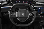 Car pictures of steering wheel view of a 2018 Peugeot 508 Allure 5 Door Hatchback Steering Wheel