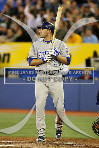 May 23rd 2008:  Outfielder David DeJesus (9) of the Kansas City Royals during a game at the Rogers Centre in Toronto, Ontario, Canada .  Photo by:  Mike Janes/Four Seam Images