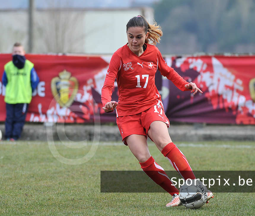 Switzerland U19 - Russia U19 : Switzerland number 17 Alessa Castignetti.foto DAVID CATRY / Nikonpro.be