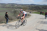 during Strade Bianche 2019 running 184km from Siena to Siena, held over the white gravel roads of Tuscany, Italy. 9th March 2019.<br /> Picture: Eoin Clarke | Cyclefile<br /> <br /> <br /> All photos usage must carry mandatory copyright credit (&copy; Cyclefile | Eoin Clarke)