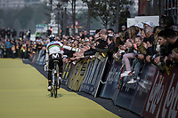 World Champion Alejandro Valverde (ESP/Movistar) returning from the pre race team presentation<br /> <br /> <br /> 103rd Ronde van Vlaanderen 2019<br /> One day race from Antwerp to Oudenaarde (BEL/270km)<br /> <br /> ©kramon