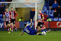 Lincoln City's Joe Morrell is fouled by Shrewsbury Town's Oliver Norburn<br /> <br /> Photographer Andrew Vaughan/CameraSport<br /> <br /> The EFL Sky Bet League One - Shrewsbury Town v Lincoln City - Saturday 11th January 2020 - New Meadow - Shrewsbury<br /> <br /> World Copyright © 2020 CameraSport. All rights reserved. 43 Linden Ave. Countesthorpe. Leicester. England. LE8 5PG - Tel: +44 (0) 116 277 4147 - admin@camerasport.com - www.camerasport.com