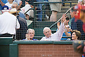 (L-R) George W. Bush, Nolan Ryan,<br /> APRIL 11, 2014 - MLB :<br /> George W. Bush and Nolan Ryan attend the baseball game against the Houston Astros and the Texas Rangers at Rangers Ballpark in Arlington in Arlington, Texas, United States. (Photo by Thomas Anderson/AFLO) (JAPANESE NEWSPAPER OUT)