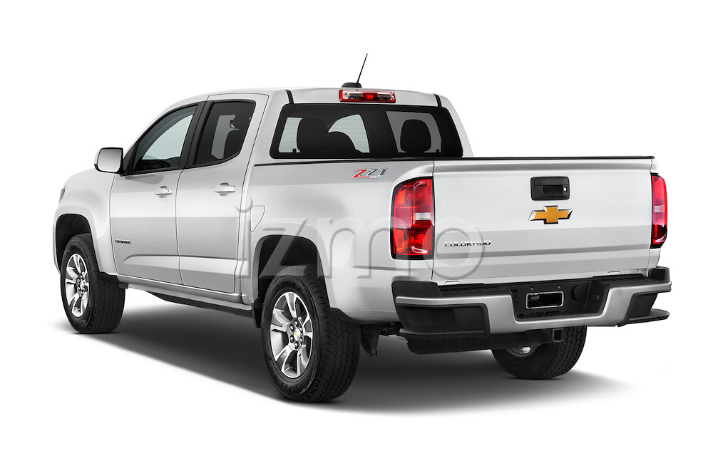 Car pictures of a rear three quarter view of 2017 Chevrolet Colorado Z71 Crew Cab 4 Door Pick Up Angular Rear