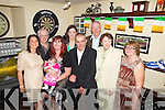 Proud parents Helen Dee and Timmy Healy who returned home fom the Isle of Man to christen baby Mia, pictured here last Sunday for family celebrations in Matt McCoy's Bar, Abbeyfeale, also pictured l-r was: Eileen Healy, Mossie Dee, Orlaith O'Connor, Michael Barry, Mary Healy and Mary Dee.