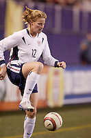 "USA's Cindy Parlow. The US Women's National Team tied the Denmark Women's National Team 1 to 1 during game 8 of the 10 game the ""Fan Celebration Tour"" at Giant's Stadium, East Rutherford, NJ, on Wednesday, November 3, 2004.."